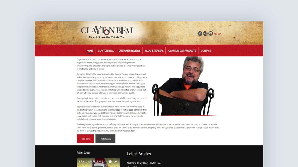 Clayton Beal - Author - Writer - Web Design