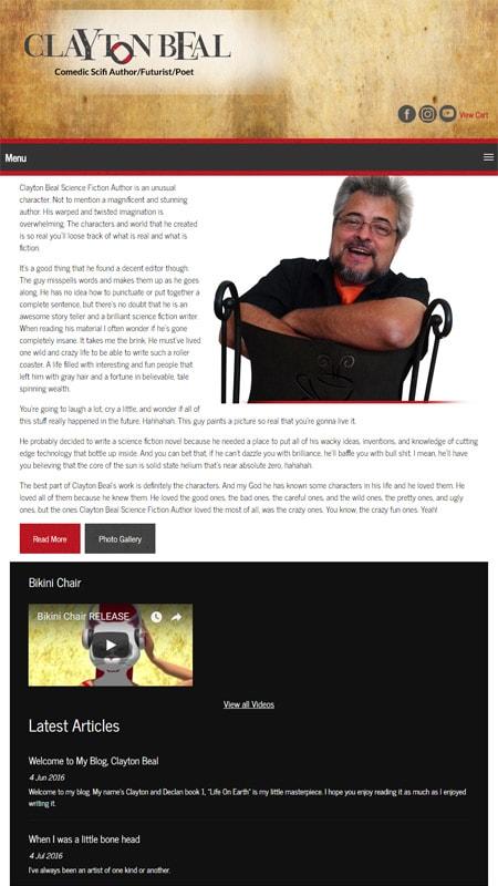 Clayton Beal Author iPad View