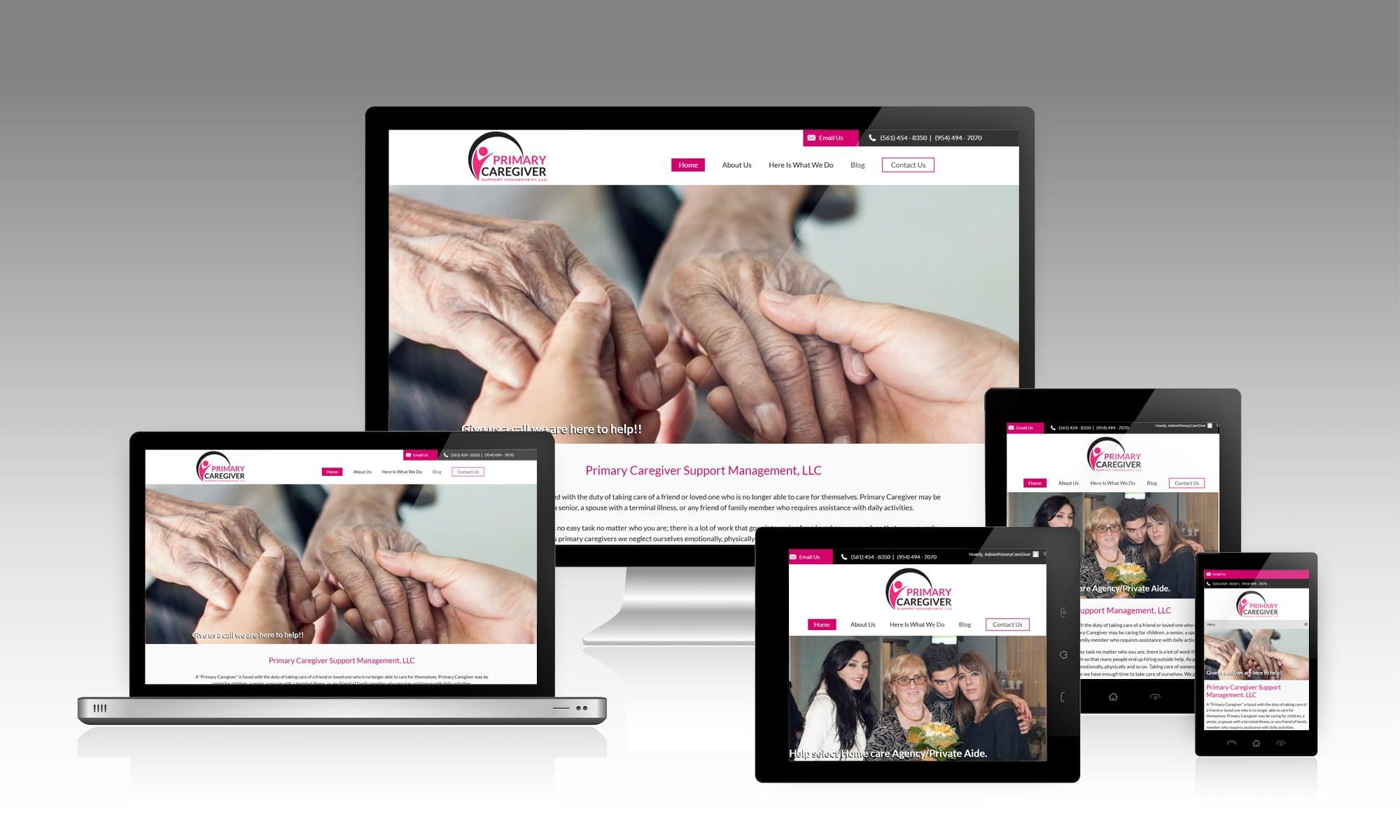 Primary Caregiver - Web Design and Development Presentation