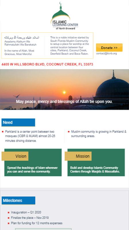 Islamic Learning Center iPad View