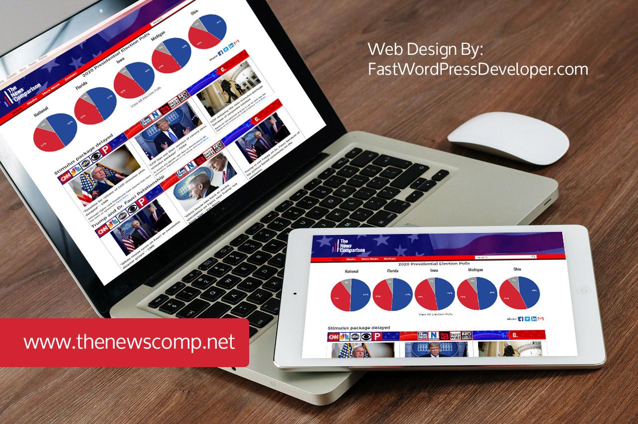 News Comparison Web Design Desktop View